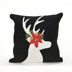 Festive Deer Indoor/Outdoor Pillow