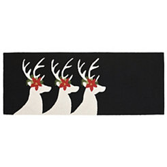 Festive Deer Indoor/Outdoor Runner