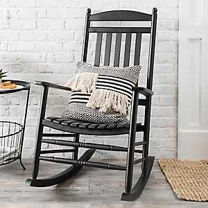Black Wood Rocking Chair
