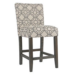 Gray Lattice Parsons Counter Stool