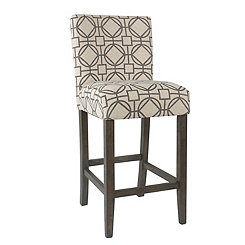 Gray Lattice Parsons Bar Stool