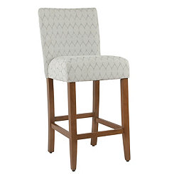 Textured Gray Parsons Bar Stool