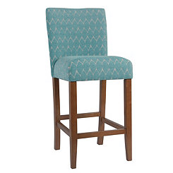 Textured Teal Parsons Bar Stool
