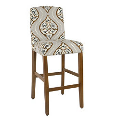 Bronze Floral Curved Back Bar Stool
