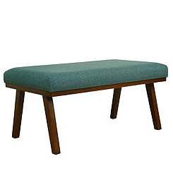 Teal Mid-Century Modern Bench
