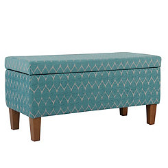 Textured Teal Storage Bench