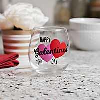 Happy Galentine's Day Wine Glass