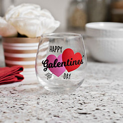 Happy Galentine's Day Wine Glass
