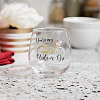 Ride or Die Galentine's Day Wine Glass