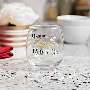 Ride or Die Galentine's Day Wine Glass