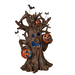 Pre-Lit Haunted Tree Figurine