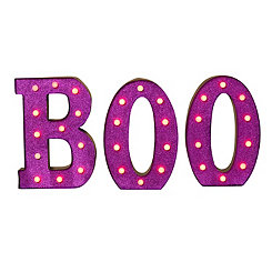 Pre-Lit Boo 3-pc. Metal Sign