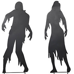 Zombie Silhouette Yard Stakes, Set of 2
