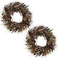 Woodland Harvest Wreaths, Set of 2