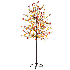 Plastic Maple Leaf LED Tree, 6 ft.