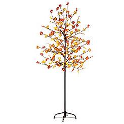 Plastic Maple Leaf LED Tree, 6 ft.