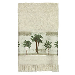 Citrus Palm Fingertip Towel