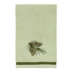 Pine Cone Silhouettes Hand Towel
