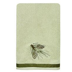 Pine Cone Silhouettes Bath Towel