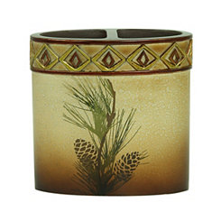 Pine Cone Silhouettes Toothbrush Holder