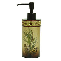 Pine Cone Silhouettes Lotion Dispenser