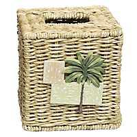 Citrus Palm Tissue Box Holder
