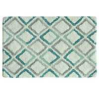 Teal Dante Cotton Bath Mat