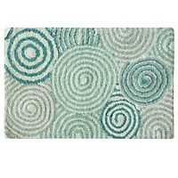 Teal Galaxy Cotton Bath Mat