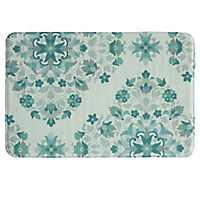 Blue Bora Bora Memory Foam Bath Mat