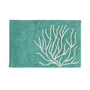 Blue Coral Cotton Bath Mat