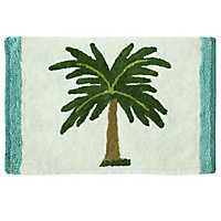 Palm Tree Cotton Bath Mat