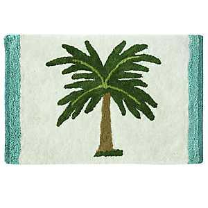 Palm Tree Cotton Bath Mat