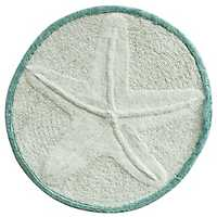 Round Starfish Cotton Bath Mat