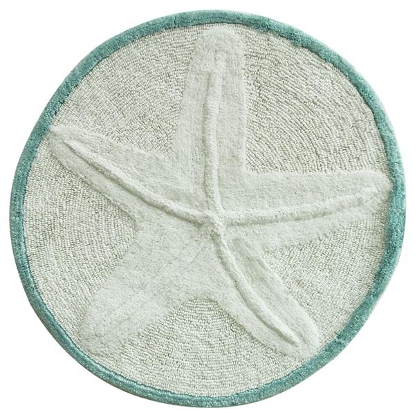 Round Starfish Cotton Bath Mat