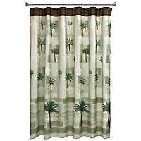 Citrus Palm Shower Curtain