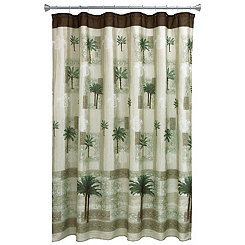 Citrus Palm Shower Curtain