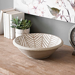 Herringbone Stripe Ceramic Bowl