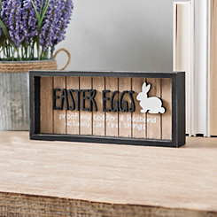 Easter Eggs Slatted Framed Wall Plaque