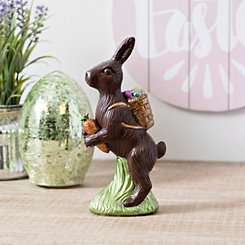 Chocolate Bunny with Backpack Statue