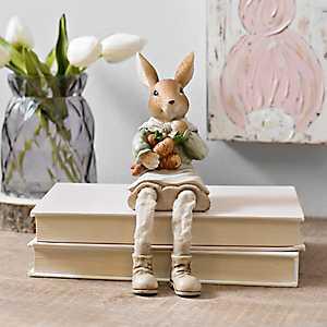 Bunny Holding Carrots Shelf Sitter