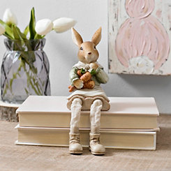 Bunny Holding Carrots Shelf Sitter