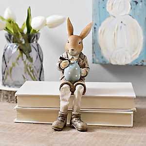 Bunny Painting Egg Shelf Sitter