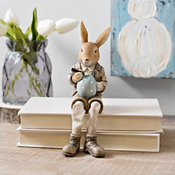 Bunny Painting Egg Shelf Sitter
