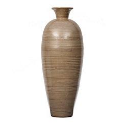 Champagne Bamboo Vase, 30 in.