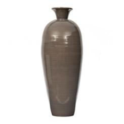 Gray Bamboo Vase, 30 in.