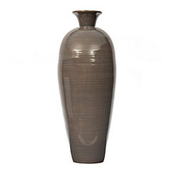 Gray Bamboo Vase, 30 in.