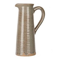 Speckled Gray Pitcher Vase, 12 in.