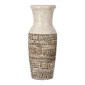 Two-Tone Textured Ceramic Vase, 15 in.