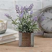 Lavender Arrangement in Wood and Metal Box