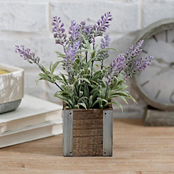 Lavender Arrangement in Wood and Metal Box